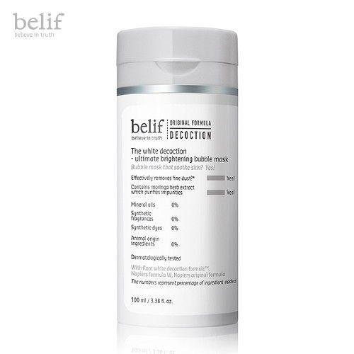 Belif White Decoction Ultimate Brightening Bubble Mask Deep pore Cleansing  #SUM37#KoreanCosmetics#Brightening#Deep pore cleansing#skinsoothing