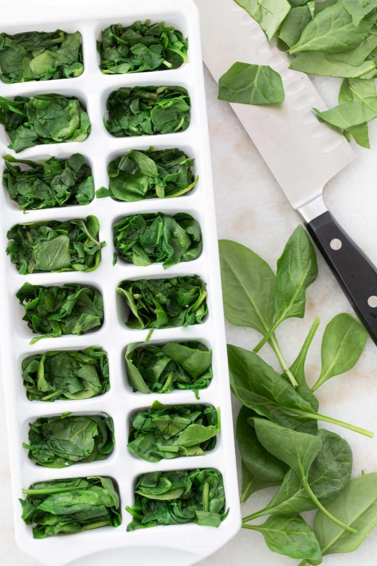 How to Freeze Spinach Recipe in 2020 Spinach, Frozen