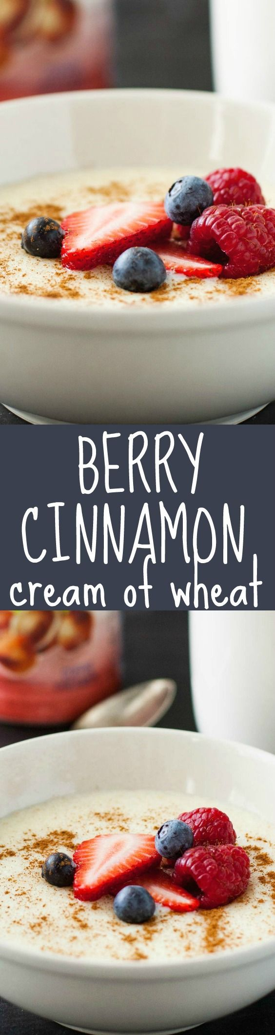 Warm and comforting Berry Cinnamon Cream of Wheat. #IDSimplyPure ad | strawmarysmith.com