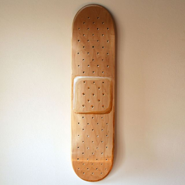 I Thought This Was Funny Because Skateboarder Tend To Get Hurt And Having A  Band Aid Skate Board Just Say Watch Out I Get Hurt A Lot. Skateboard Design  ...
