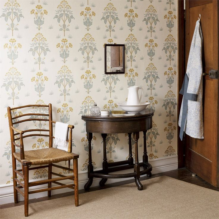 The Original Morris & Co - Arts and crafts, fabrics and wallpaper designs by William Morris & Company | Products | British/UK Fabrics and Wallpapers | Meadow Sweet (DM6P210348) | Archive Wallpapers