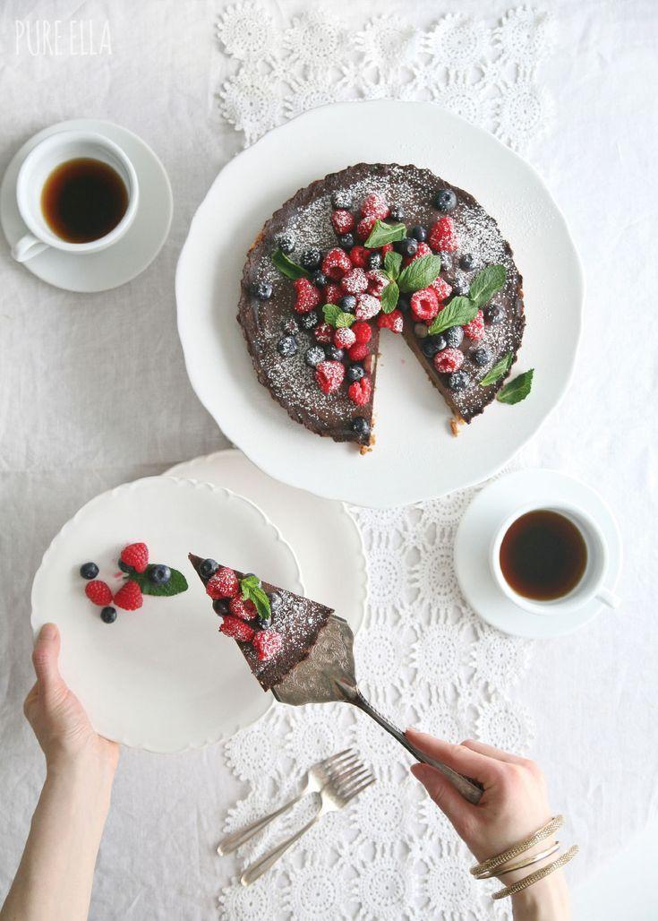 Chocolate Chip Cookie Chocolate Tart//