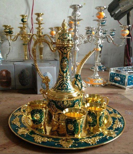 Islamic Turkish Moroccan Coffee Tea Set Persian Arabic