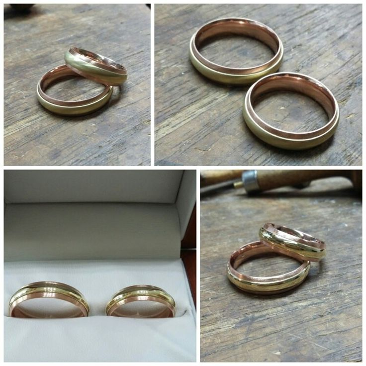 Rose-yellow gold rings