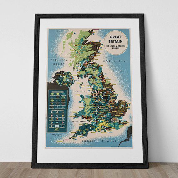 Poster Art déco Angleterre impression impression par ArtDecoGallery