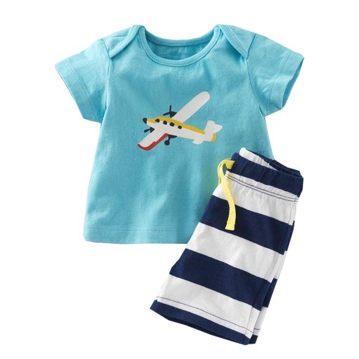 Summer Nautical Baby Boy 2pcs Clothes Set