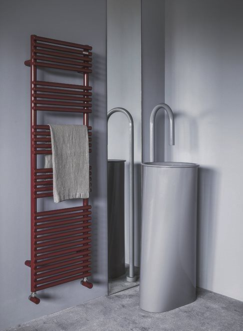 Water, electric or mixed version Basics 25 towel warmer. Flexibility ...