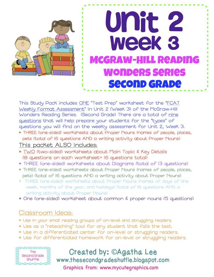 Preparing For Second Grade Worksheets : Best unit week images on pinterest mcgraw hill