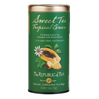 "Tea used for Panera Iced Green Tea  ""The tea is the Republic of Tea Passion Fruit Papaya flavored green tea."