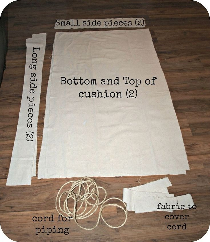 How to Make an Outdoor Cushion Cover Out of a Drop Cloth :: Hometalk