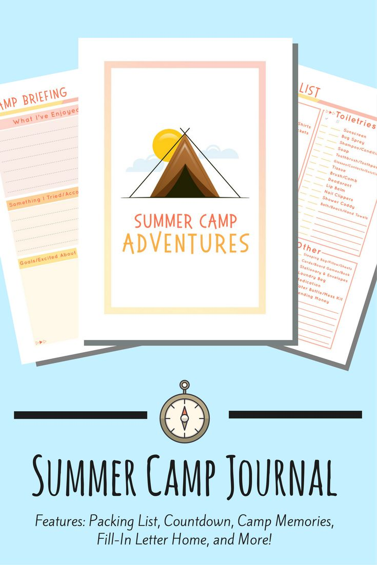 A fun, fill-in journal for you kids to use at Summer Camp year after year. Features a packing list, camp countdown, fill-in letter home stationery, camp memories, and more!