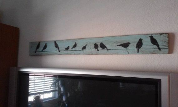 Bird art whimsical wall decor family birds by SplintersandSawdust1