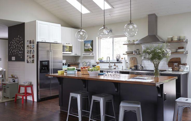Kitchen Goals!  Those lights... the sky lights... that backsplash! I love this!