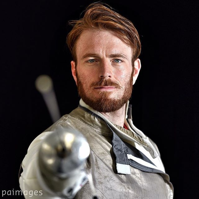 Great Britain's Laurence Halsted poses for a photograph during the Fencing Olympic Team annou...
