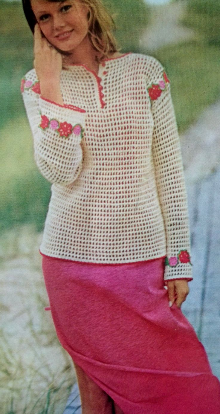 Flowered Filet - Free Vintage Crochet Pattern