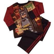"LEGO Batman ""Wanted"" Young Boys Poly Pajamas Set Size 4-7, Navy"