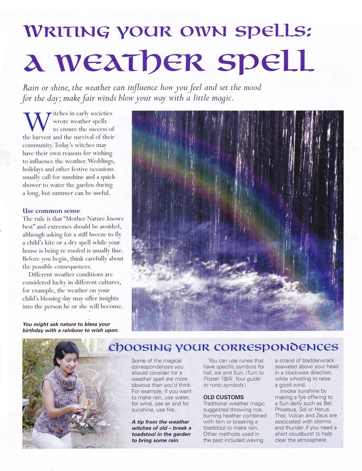 Writing your own spells a weather spell