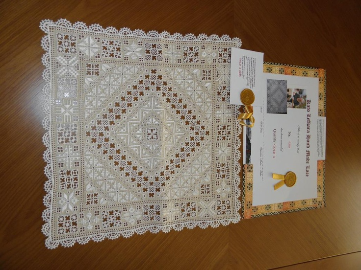 Lefkara lace ~ antique sample ~ from D&A Lefkara Handicraft Centre