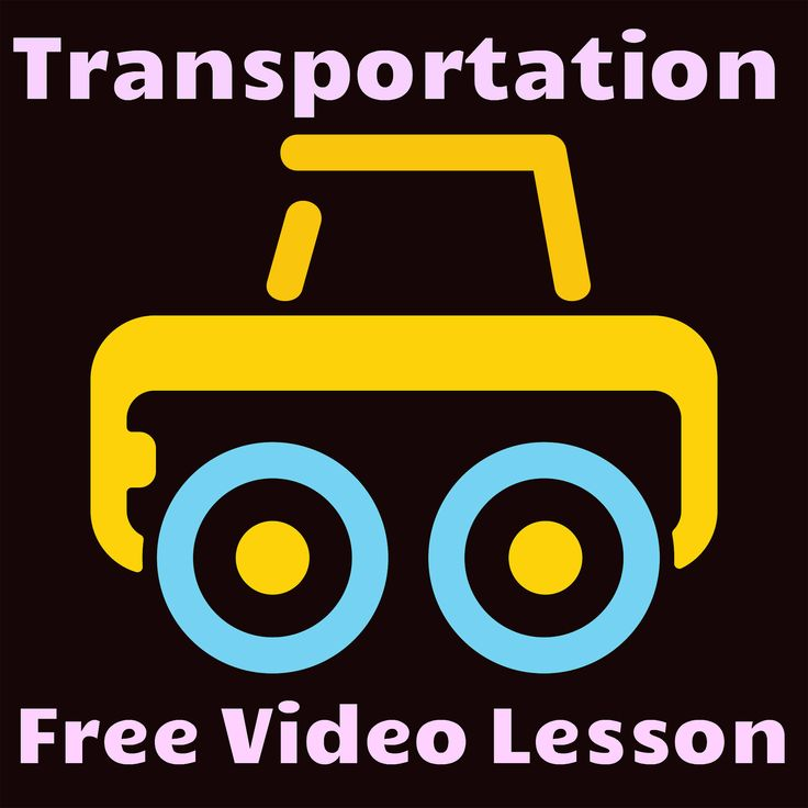 This is a fantastic video to teach children about different types of transportation. Free!