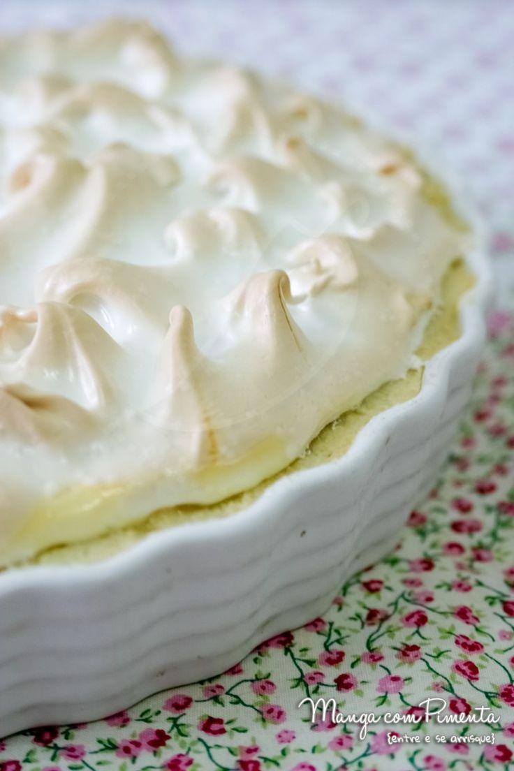 Torta de Limão, para ver a receita clique na imagem para ir ao Manga com Pimenta.