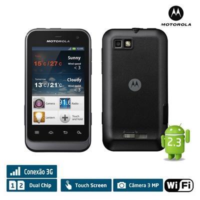 """Celular Defy Mini XT321 Motorola, 3G Android 2.3 Wi-Fi Câmera 3.0 MP, Tela 3.2"""" Touchscreen"""