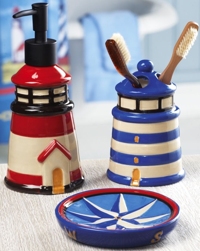 Find cute nautical things for little items in the medicine cabinet (for those bathrooms with zero counter space)