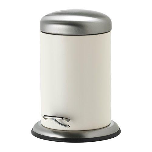 MJÖSA ペダル式ゴミ箱 IKEA 後ろに持ち手が付いているので、持ち運びが簡単です 取り外し可能な内バケツ付き。ゴミ捨てやお手入れが簡単です キッチンや洗面所など、湿気の多い場所でも使えます