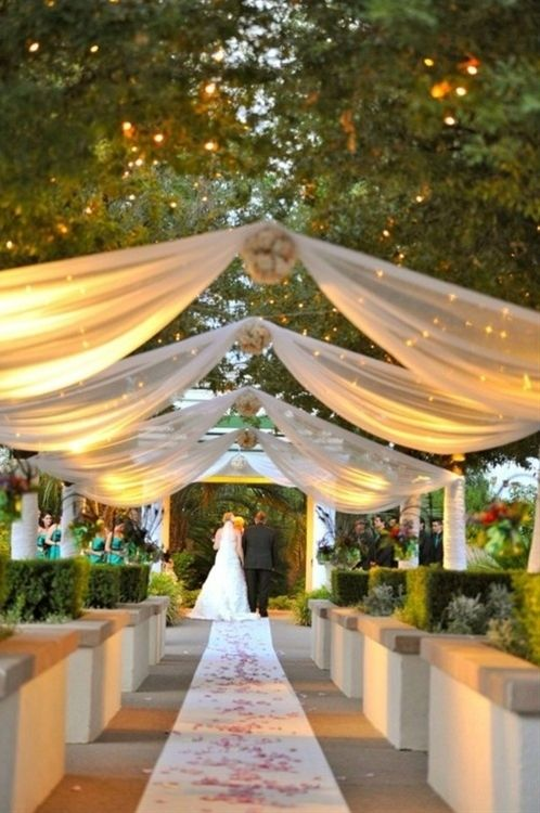 wedding aisle decor - Click image to find more weddings posts