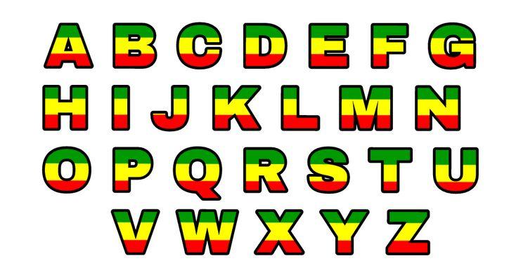 Alphabet Lettres Alphabetrasta Rasta Stickers Lettering Alphabet Lettering Reggae