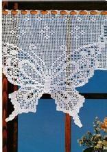 bando de cortina de croche com grafico_Pesquisa do Hao123