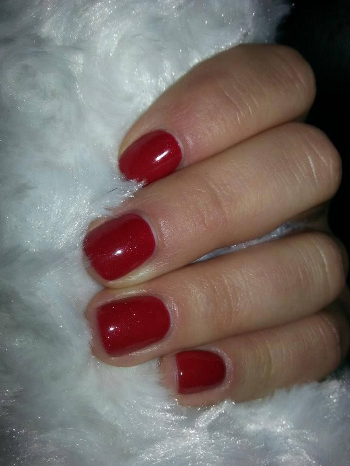 Semilac #love #valentine #nails #hybrid #lacquer #paznokcie #manicure #red
