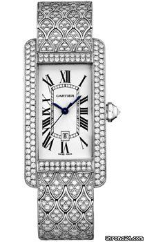 Cartier Tank Americaine Medium $107,895 white gold case with automatic movement  Beautiful