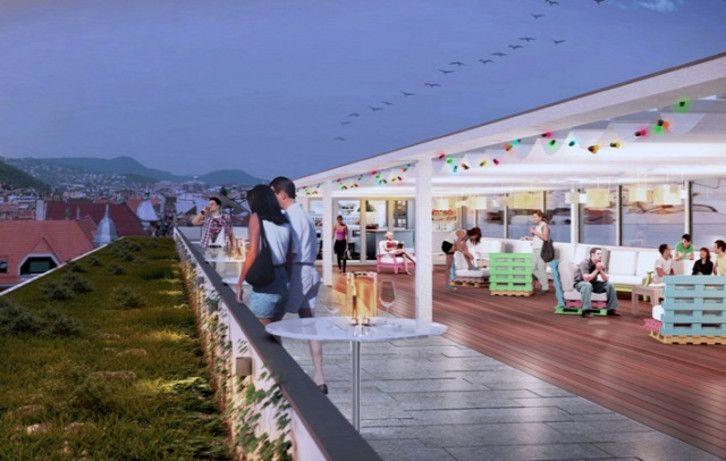 Tetőterasz, fitnessközpont, dizájnbútorok várják majd a leendő lakókat.