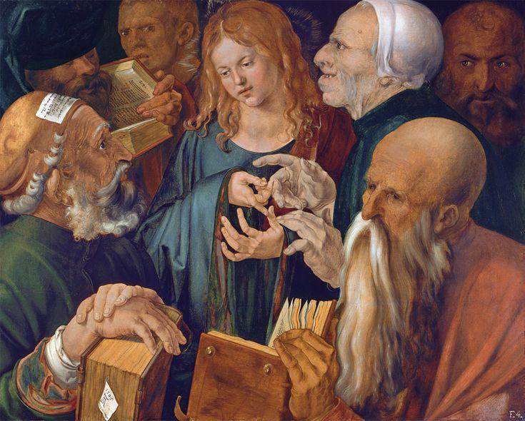 Cristo dodicenne tra i dottori, quadro di Albrecht Durer (1506)
