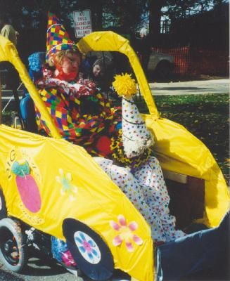 Circus Clown in a Clown Car Halloween Wheelchair Costume