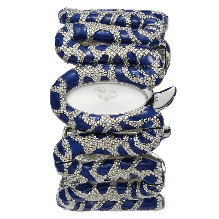 Amazing -- Roberto Cavalli Cleopatra Watch In Blue And Silver: Time Pieces, Fashion Watches, Cleopatra Watches, Lady Watches, Cleopatra Fashion, Blue Cleopatra, Roberto Cavalli, Cavalli Women, Cavalli Cleopatra