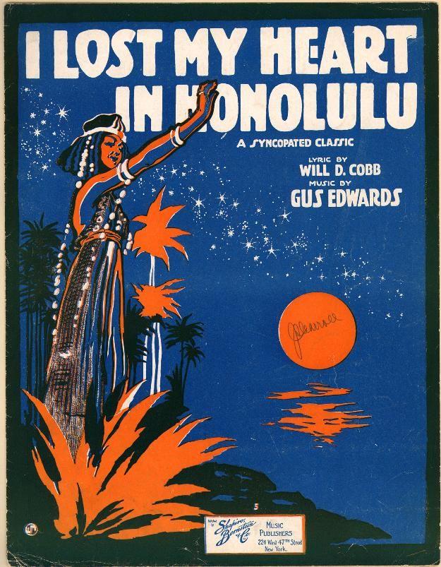 13 best ec videos images on pinterest conspiracy jack johnson and i lost my heart in honolulu vintage sheet music hawaiian art fandeluxe Gallery