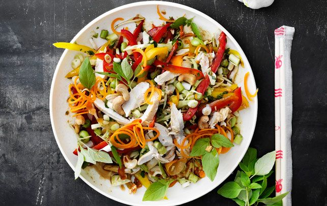 Thaisalat med kylling