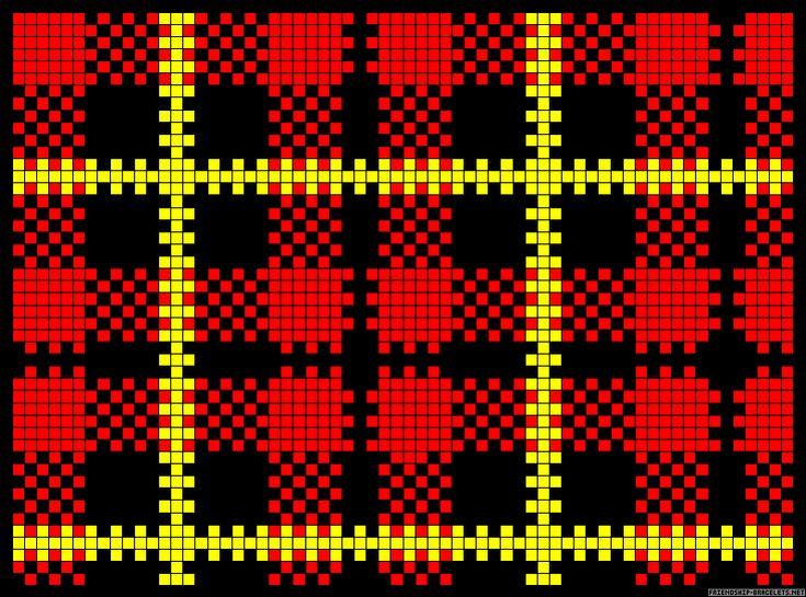 Plaid tartan perler bead pattern