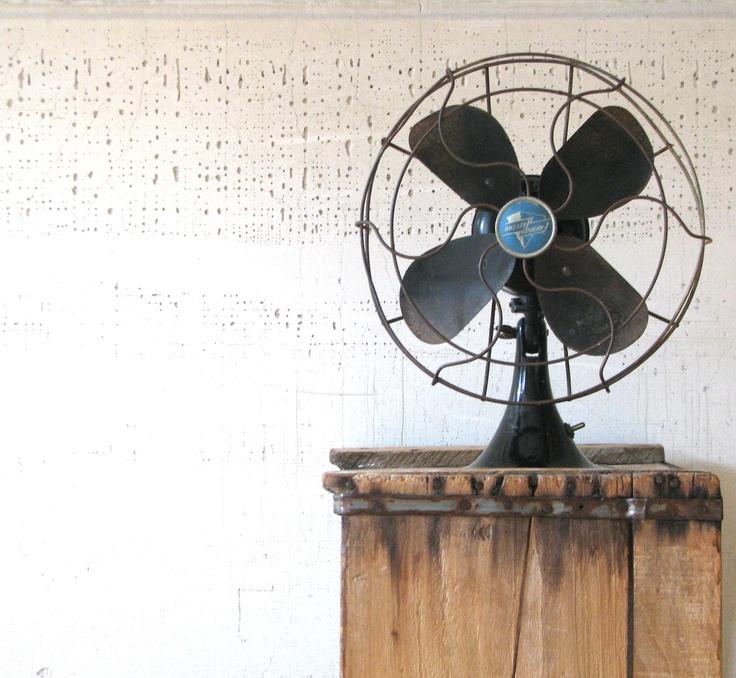 vintage black fan - emerson electric - modern farmhouse decor. $42.00, via Etsy.
