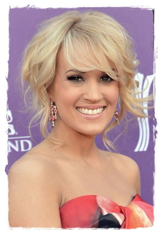 Celebrity #Inspired Hairstyles - Carrie Underwood Soft Bang
