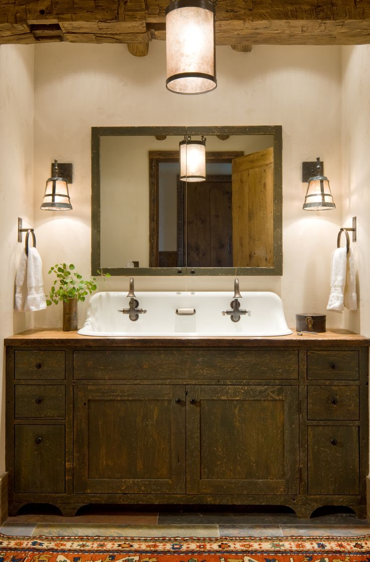 For the bath at 'the barn' . . . love the vintage kitchen sink retrofitted for a bathroom.