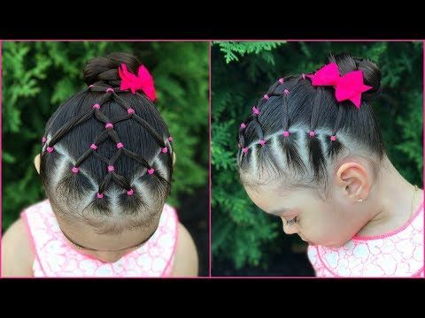 Peinado para niñas la maya con coleta| Peinados faciles y rapidos para niñas]LPH - YouTube