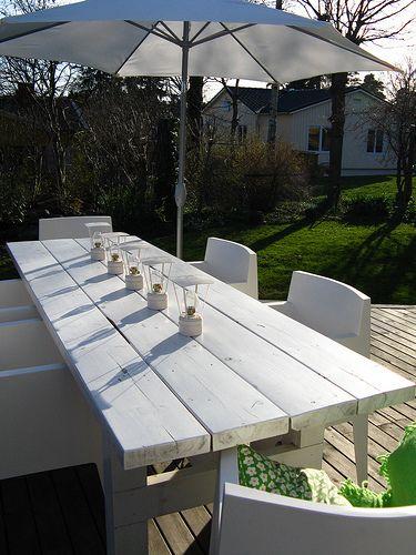 simple but elegant patio table