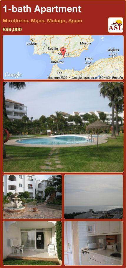 1-bath Apartment in Miraflores, Mijas, Malaga, Spain ►€99,000 #PropertyForSaleInSpain