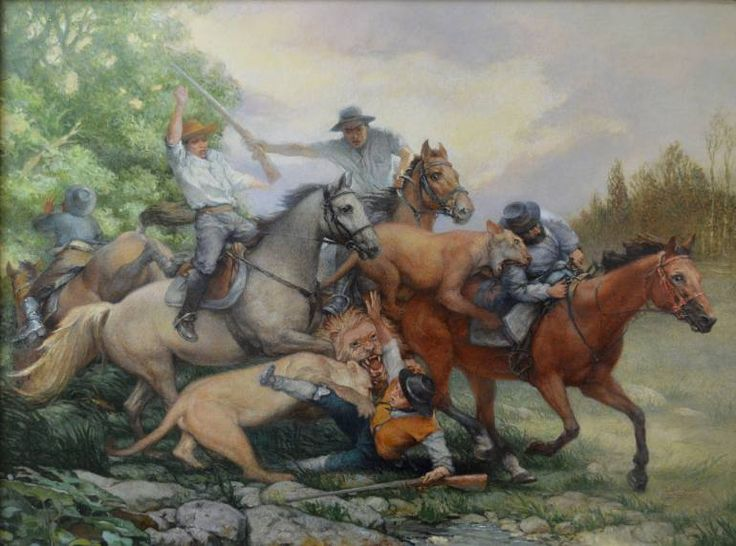 """Lion hunt 3"" by Serhii Spodieniuk; Painting,  #art #Painting"