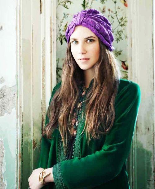 Bohemian style! Colombian heiress Tatiana Santo Domingo ♥