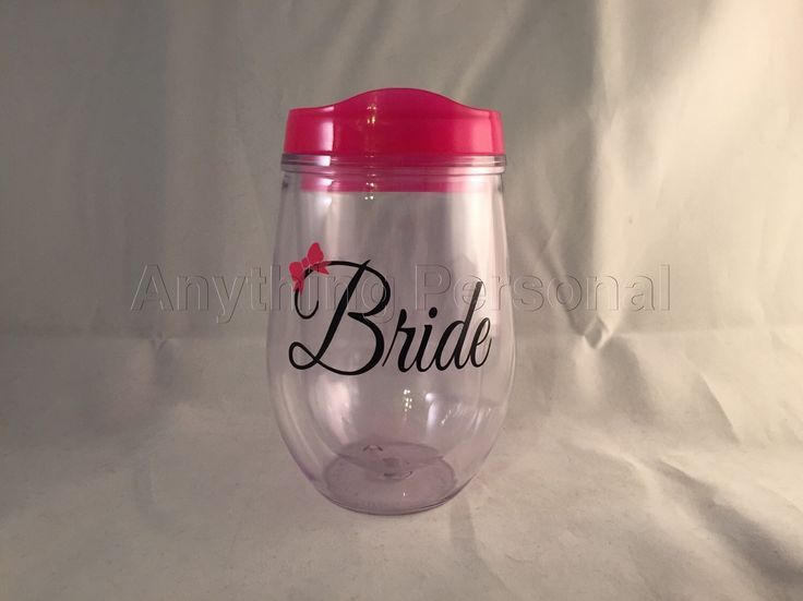 Bride Cup, Wine Tumbler, Personalized Cup, Bridal Cup, Bride Gift, Monogram Gift, Bev2Go, Beach Cup, Bachelorette Cup, Honeymoon Cup by AnythingPersonal on Etsy https://www.etsy.com/listing/249491123/bride-cup-wine-tumbler-personalized-cup