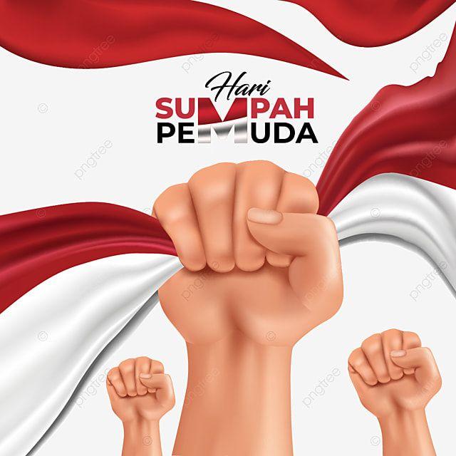Hari Sumpah Pemuda Indonesia Flag In Hand Vector Fist Clipart Sumpah Pemuda Indonesia Png And Vector With Transparent Background For Free Download Bendera Amerika Desain Pamflet Bendera