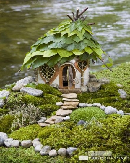 I've been saving up some bark, finding interesting stones and would love to make a fairy house like this one. Posted on Saturdays Are Fun: Fairy Garden Inspiration   Studio Tangie